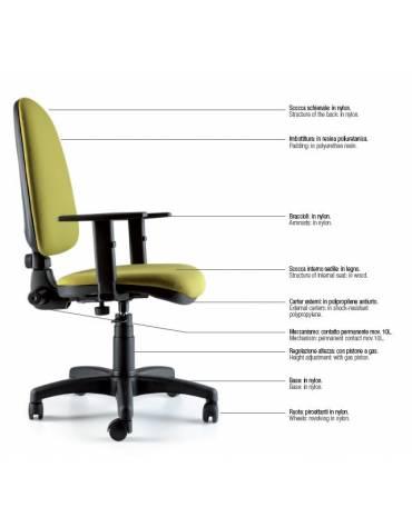 Sedia dattilo ergonomica bassa