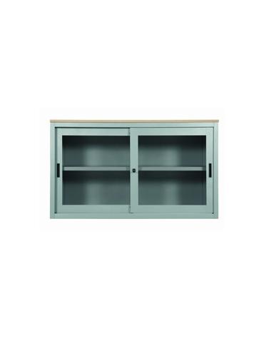 Sopralzo a porte scorrevoli con vetri temprati cm. 180x45x74h