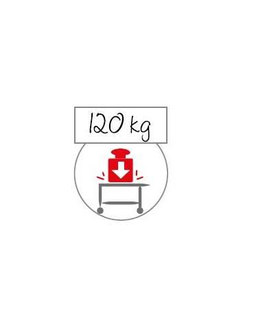 Carrello inox con N° 3 Piani stampati - cm 109x69x95h