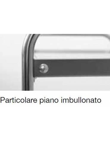 Carrello inox con N° 4 Piani stampati - cm 109x69x126h