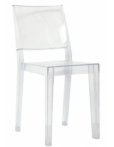 Poltroncina in policarbonato trasparente