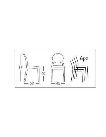 Sedia in policarbonato schienale ad alveare