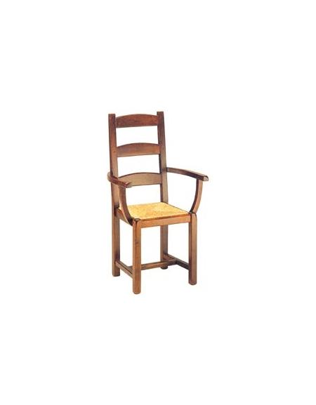 Sedie Con Braccioli Per Cucina.Sedia Cucina Con Braccioli In Legno E Paglia Sedie E Tavoli Per Bar O Ristoranti Linea Contract