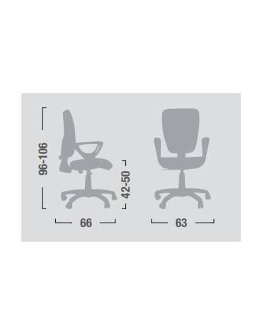 Poltrona dattilo ergonomica con braccioli