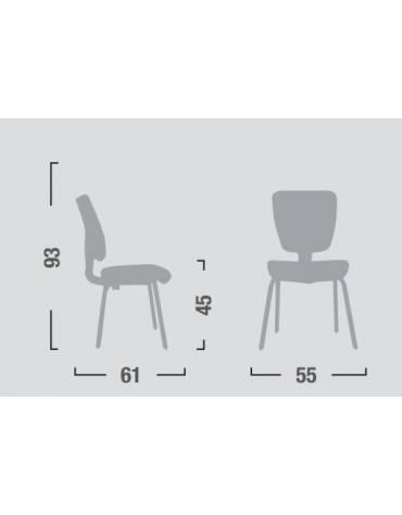 Sedia dattilo ergonomica senza braccioli