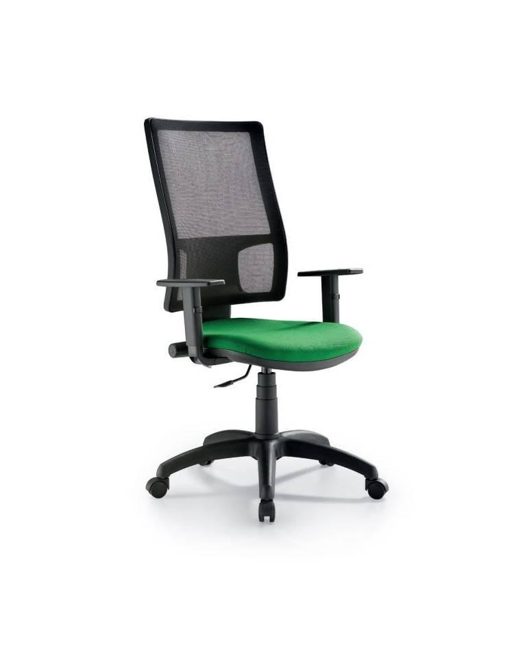 Sedia dattilo ufficio con braccioli regolabili su ruote ...