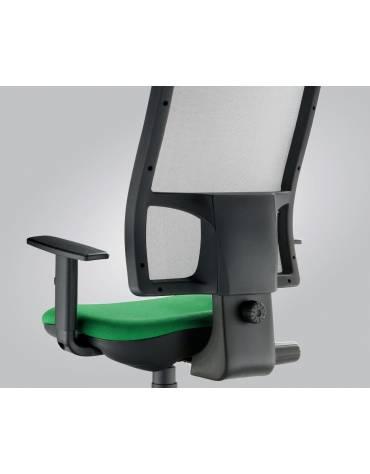 Sedia dattilo ergonomica bassa senza braccioli