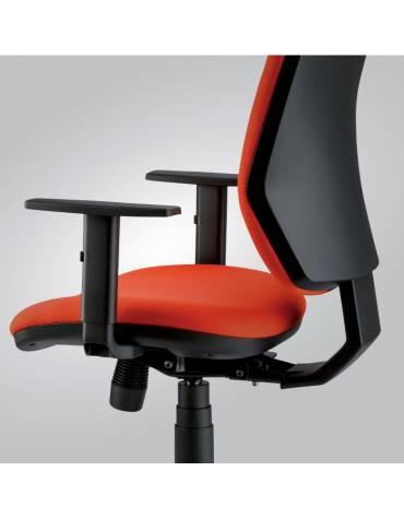 Poltrona ergonomica oscillante alta con braccioli Versione crom
