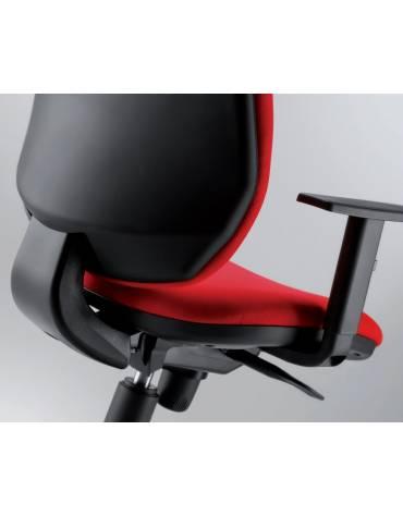 Poltrona ergonomica oscillante bassa con braccioli
