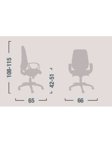 Sedia dattilo ergonomica oscillante bassa