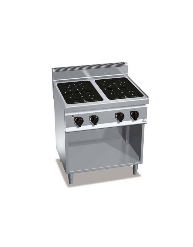 Cucina a induzione per ristoranti N° 2 Zone di cottura da banco cm ...