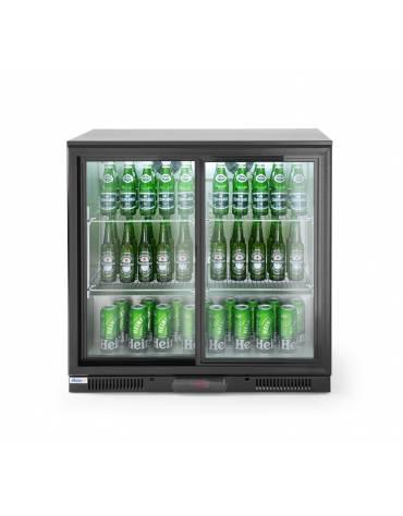 Espositore refrigerato ventilato retrobanco - controllo digitale -  201 lt. - +1∾+10 °C -  2 porte battenti - mm 900x520x900h