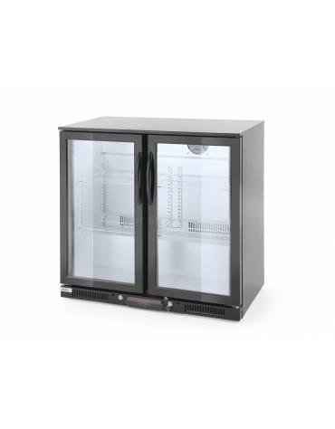 Espositore refrigerato ventilato retrobanco - controllo digitale -  201 lt. - +1∾+10 °C -  2 porte scorrevoli - mm 900x520x900h