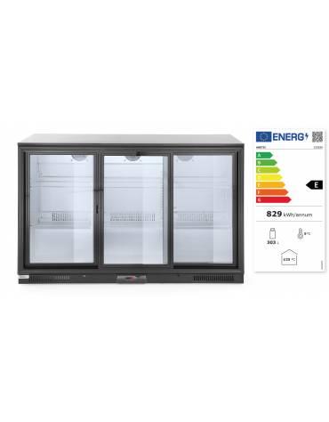 Espositore refrigerato ventilato retrobanco - controllo digitale -  320 lt. - +1∾+10 °C -  3 porte battenti - mm 1350x520x900h