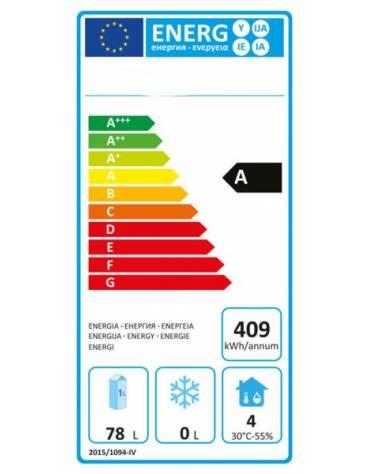 Armadio frigo professionale Lt 120 / +2 +8 C - ESTERNO INOX - cm 60x58,5x85,5h