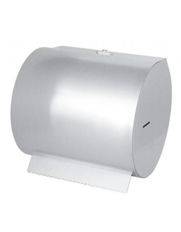 Portarotolo inox carta orizzontale a muro - Ø cm 30x33