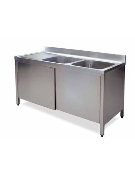 Lavello 2 vasche + gocciolatoio Dimensioni cm.180x70x85h