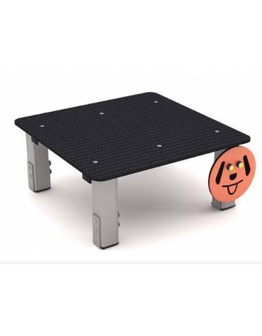 Dog table per cani - pali portanti in alluminio, asse in MDPE- cm 90x90x39h