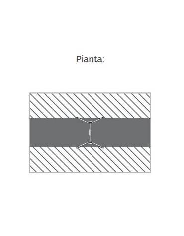 """Altalena """"zero legno"""" 1 posto, in alluminio e trave acciaio - sedile a gabbia - da interrare o filo pavimento - cm 175x195x210h"""