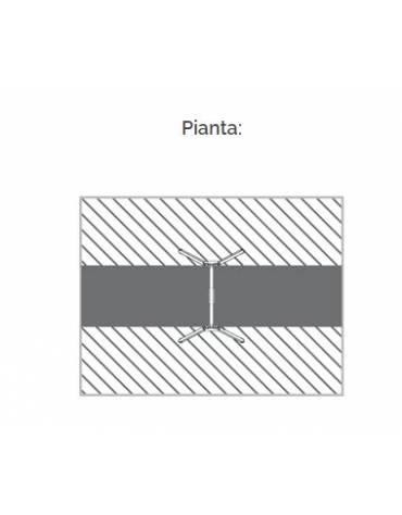 """Altalena """"zero legno"""" 1 posto, in alluminio e trave tonda acciaio - sedile piano - da interrare o filo pavimento - cm 185x265x24"""