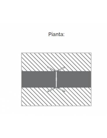 """Altalena """"zero legno"""" 1 posto, in alluminio e trave tonda acciaio - sedile a gabbia - da interrare o filo pavimento - cm 185x265"""