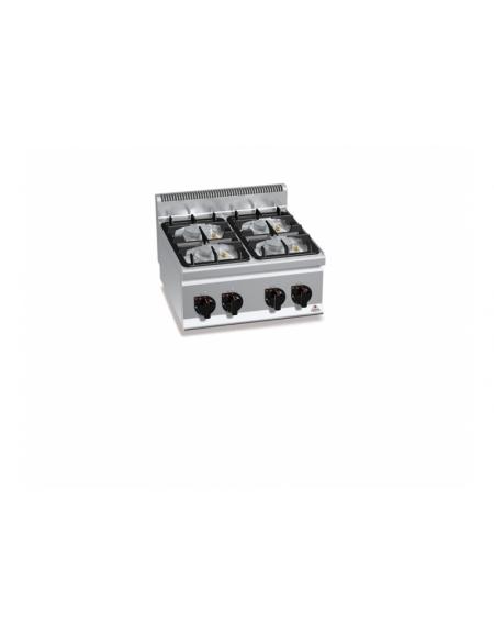 Cucina a gas 4 fuochi da banco media potenza profondita 39 cm 60 cucine da banco - Cucina a gas da 90 ...