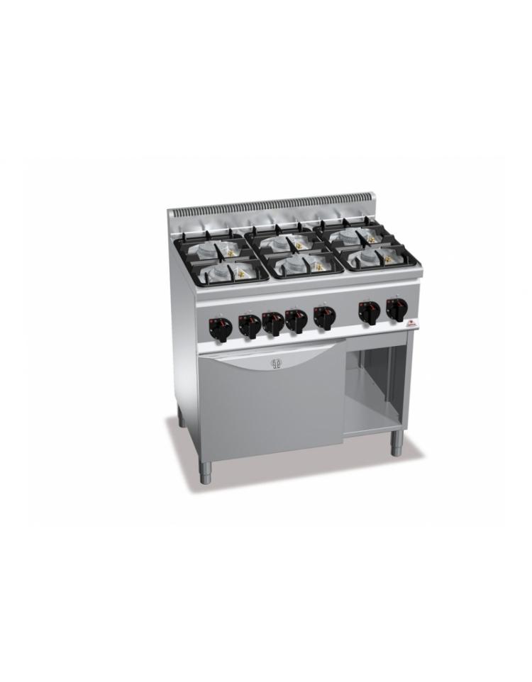 Cucina a gas 6 fuochi su forno a gas 1 1 media potenza - Cucina a gas da 90 ...