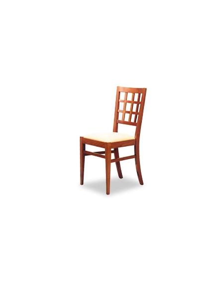 Sedia in legno per cucina con seduta in stoffa o sky
