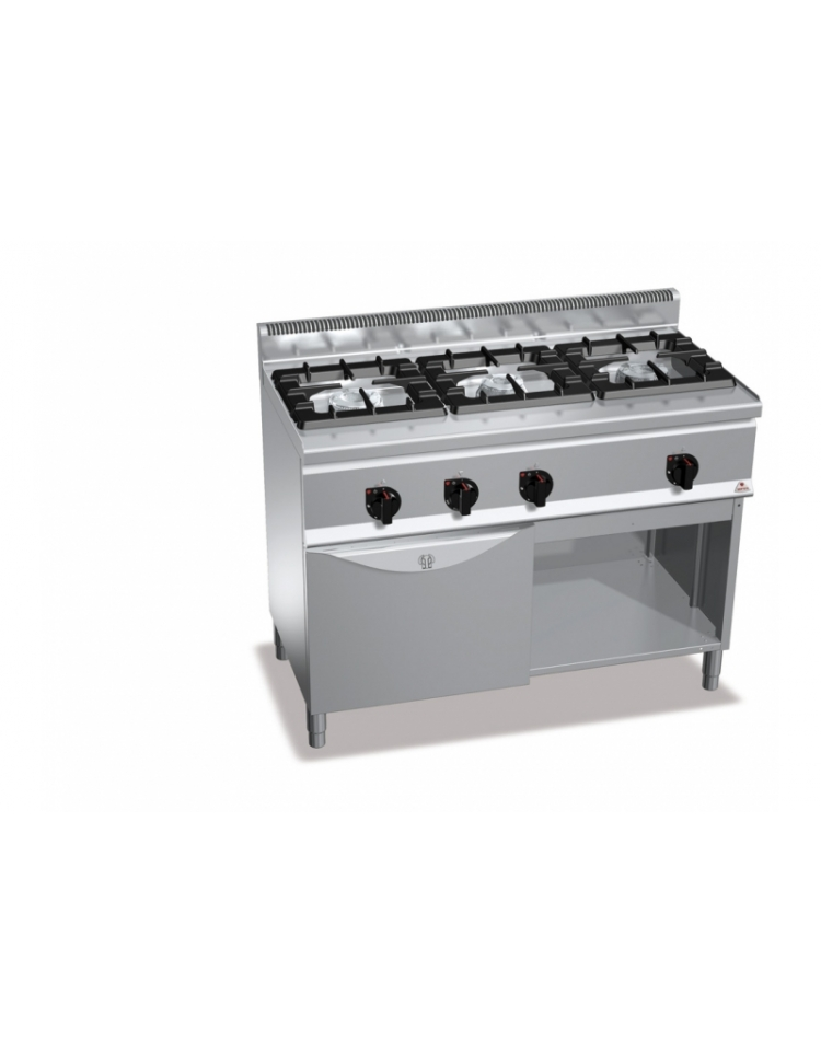 Cucina a gas 3 fuochi su forno a gas 1 1 alta potenza profondita 39 cm 60 cucine su mobile con - Cucina forno a gas ...