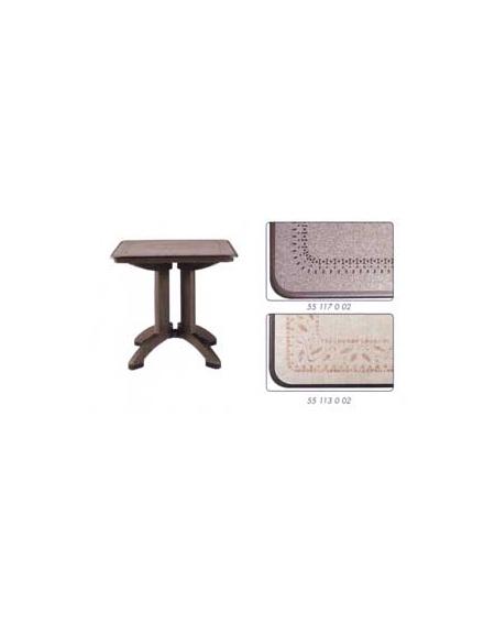 Tavolo in resina Victoria cm. 80x80