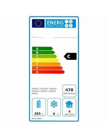 Armadio frigo professionale ESTERNO INOX Lt. 600 / +2° +8°C - cm 77,7x69,5x189,5h