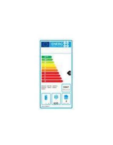 Armadio freezer compatto ventilato inox - 2 porte - 900 litri - -22°C/-17°C - mm 1200×740×1950h
