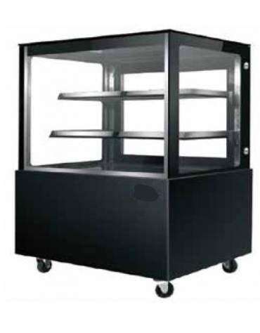 Vetrina refrigerata da banco in acciaio inox - 2 ripiani - 570 Lt - temp. +0°+ 8°C - mm 1700x750x1200h