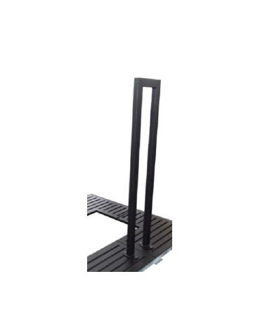 Salvapiante verticale alto per griglia salvapiante, in acciaio zincato e verniciato - cm L29xH140