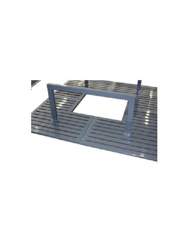Salvapiante verticale alto per griglia salvapiante, in acciaio zincato e verniciato - cm L100xH50
