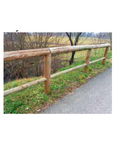 Recinzione con traversa in legno di pino - da interrare - Lunghezza cm 100