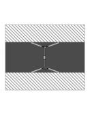 Altalena 1 posto con sedile a orsetto - Montanti in legno e trave in acciaio zincato - adatta ai diversamente abili