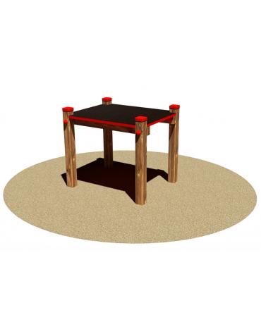 Pedana piccola salto per cani, in legno di pino nordico e pedana antiscivolo in multistrato - cm 64 x 64 x 70 h