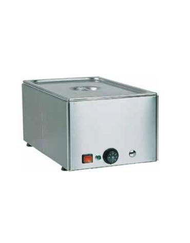 Tavola calda da banco inox bagnomaria - capacità 2x 1/1 GN - potenza 1200+1200w - cm 66x54x22h