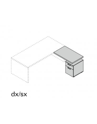 Allungo Dx/Sx con cassettiera ad 1 cassetto e classificatore