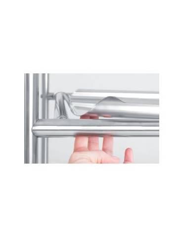 Carrello inox con 3 piani asportabili da cm 70x50 - Portata totale Kg 120 - cm 98x62x94h