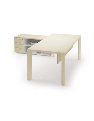 scrivania lineare gamba legno special 180x90x74h