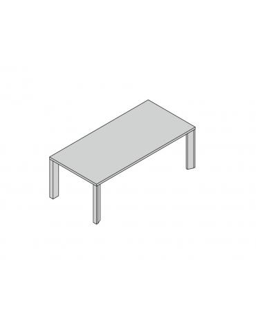 Tavolo riunioni gamba legno 210x100x74h