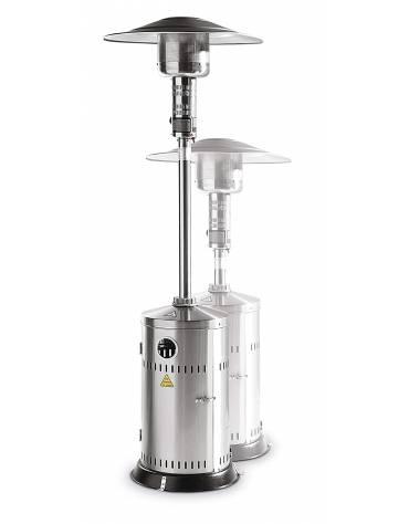 Fungo riscaldante ad infrarossi alimentato a gas - Struttura in acciaio inox