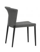 SEDIA con struttura in alluminio verniciato, rivestimento in textilene - cm 44x44x76h