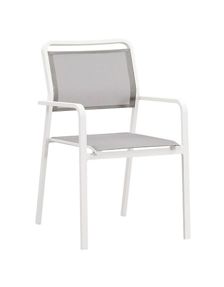 POLTRONCINA con struttura in alluminio verniciato, seduta e schienale in textilene - cm 48x46x88h