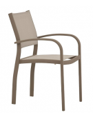 POLTRONCINA con struttura in alluminio verniciato, seduta e schienale in textylene - cm 47x46x85h