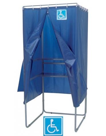Cabina elettorale polivalente in tubolare-TENDA IGNIFUGA