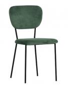 Sedia per interno con struttura in metallo verniciato, rivestimento in velluto - cm 44x44x84h