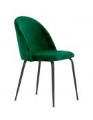 Sedia per interni con struttura in metallo verniciato, rivestimento in velluto - cm 44x42x79h